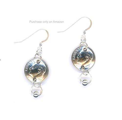 31st Birthday Gift Ideas For Her 1988 Dime Earrings Anniversary Wife Silver Links With Beads Coins Jewelry Dimes