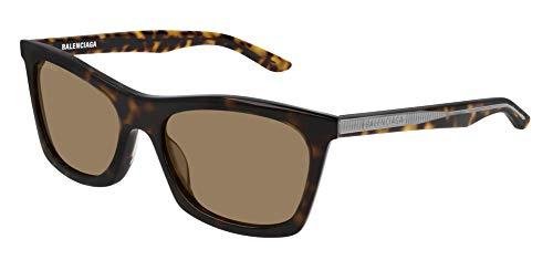 Balenciaga BB0006S Sunglasses 002 Havana/Brown Lens 54 mm
