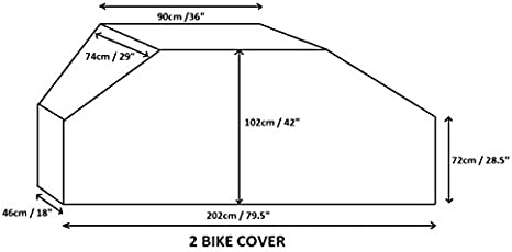 Navy Blue Frame Mounted Style Bike Racks Bags and Covers Direct Motor home//Caravan 2 Bike Cover with Webbings For Tow Ball or A
