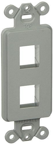 (Hubbell ISF2GY Plate Decorator Frame, 2 Port, Gray)