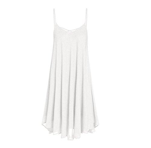 Weste Tops Kleid Sommer Amcool Weiß Slip Minikleider Lange Mini YSxq07
