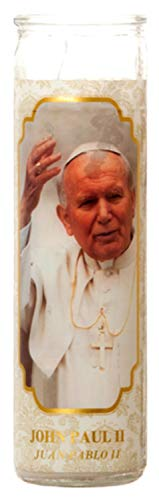 - Concord Import 302603 Candle Religious John Paul Ii-White