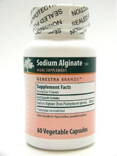 Genestra - 400 mg d'alginate de sodium 60 Vcaps