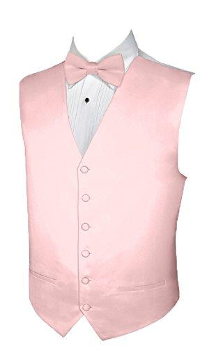 Tuxedo Vest ROSE Vest and BOWTIE Satin SMALL (Tuxedo Rose Vest)