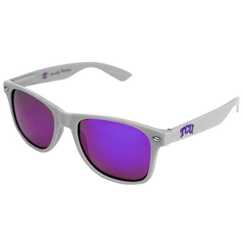 NCAA TCU Horned Frogs TCU-2 Silver Frame, Purple Lens Sunglasses, One Size, Silver (Frame Purple Lens)
