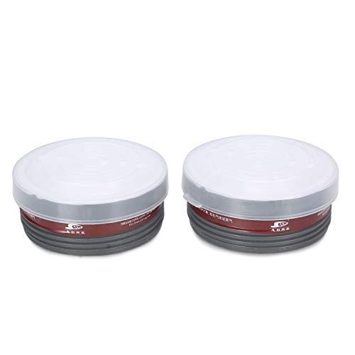(Mufly Organic Vapor Full Face Respirator Respiratory Protection With Filter Cartridge (2Filter Cartridges))
