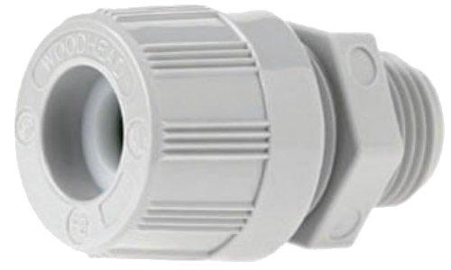Loc Nut (Woodhead 5524W Cable Strain Relief Grip, O-Ring, Locknut, Max-Loc Cord Seal, Straight Male, 1/2