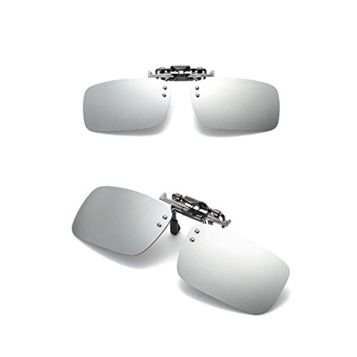 Lentes Baosity Sol Gafas 400 Protecciójn Polarizadas Hombre Clip de B Solar plata con Regalo UV para Mujer wtYqwd