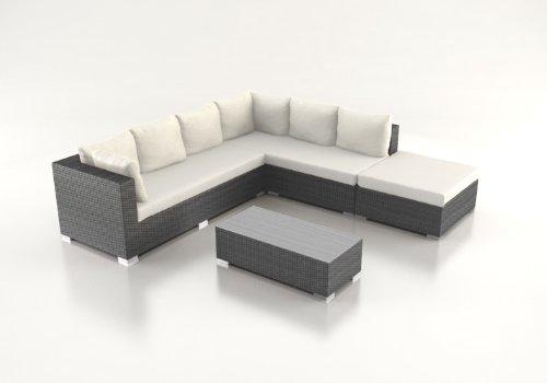 Polyrattan Lounge ALIANDO schwarz