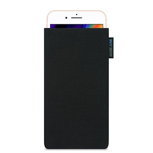 Adore June iPhone 8 Plus Hülle [Serie Classic] Tasche aus original Cordura in schwarz. Handytasche aus widerstandsfähigem Textil-Stoff [Display-Reinigungseffekt] Apple iPhone 8 Plus case sleeve