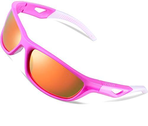 ATTCL Men's Sports Polarized Sunglasses Sports Glasses for Men Cycling Driving Golf 306 Pink
