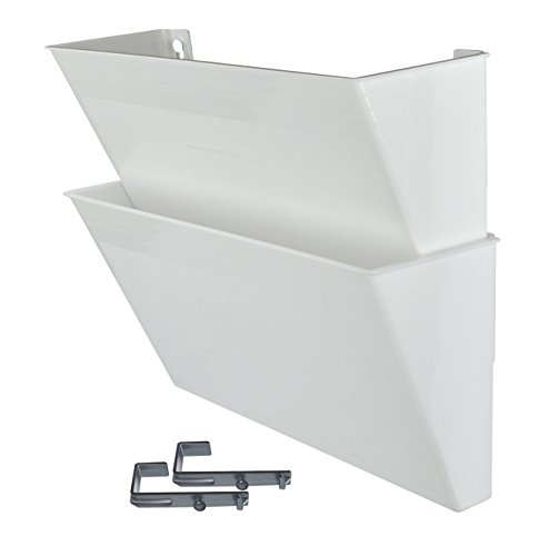 Acrimet Wall-mounted Modular File Holder (2 - Pack) (White Color)