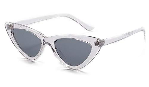 (Cat Eye Sunglasses Women Clear Glitter Shiny Cool Female Vintage Ins Celebrity P)