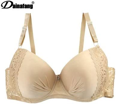 Amazon.com: GuiZhen Full Cup Plus Size Bra Underwear Lingerie Wireless Adjust lace Womens Breast Lining DE Large cup44 46 48 50: Garden & Outdoor