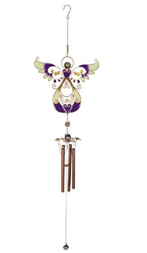 (Purple Blooms Angel Wind Chime, 36