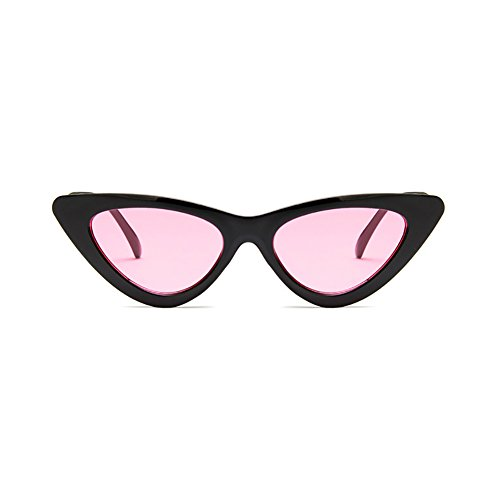 Portable Lunettes rose Etui Verres de pour Soleil Eye en à Plein Mode Noir Fumés iShine avec Rétro Encadré Chat Yeux Lunettes de Femme Cadre Triangle Cat Homme FqxTSEw1