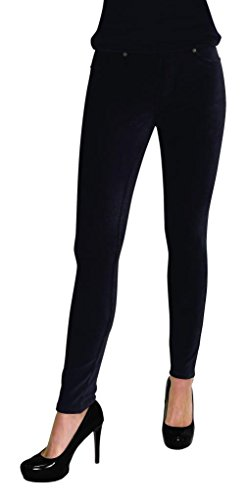 Thin Ribbed Corduroy Leggings Black M/L