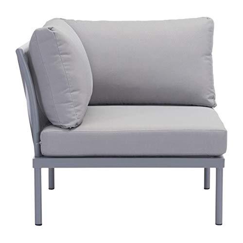 Zuo Sand Beach Modern Patio Corner Chair in Light Gray (Zuo Patio Chair)