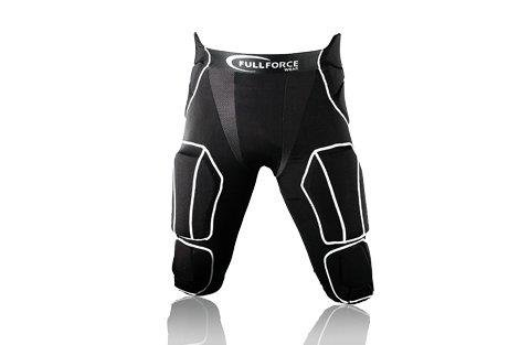 Full Force American Football Herren Hose 7 Pocket mit 7 eingenähten Pads, schwarz, Gr. S-3XL Full Force Wear