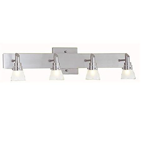 Portfolio 4-Light Brushed Nickel Standard Bathroom Vanity Light ...