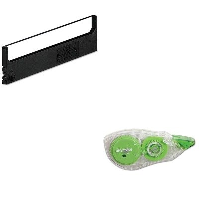 KITDPSR1800UNV75606 - Value Kit - Dataproducts R1800 Compatible Ribbon (DPSR1800) and Universal Correction Tape with Two-Way Dispenser (UNV75606) - Dataproducts R1800 Compatible Ribbon