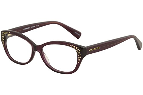 COACH Eyeglasses HC 6076 5043 Purple - Cateye Eyeglasses Prescription