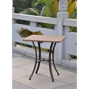 """JumpingLight Barcelona 28"""" Bistro Table in Honey Durable and Ideal for Patio and Backyard"""