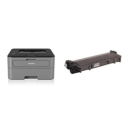 Brother HLL2310D - Impresora láser monocromo dúplex + Brother TN-2410 Laser cartridge 1200 páginas Negro tóner y cartucho láser