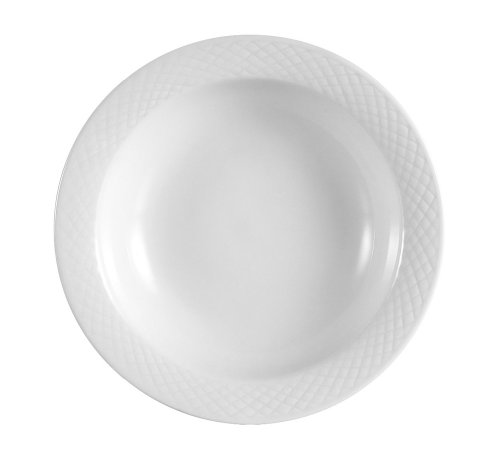 CAC China BST-32 Boston 4-1/2-Inch 3.5-Ounce Super White Porcelain Fruit Bowl, Box of - Porcelain 3.5 Ounce