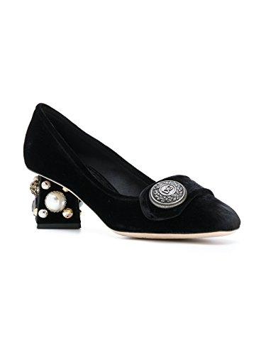 CD0818AM40880999 Gabbana Women's E Pumps Velvet Dolce Black wp8tPRq