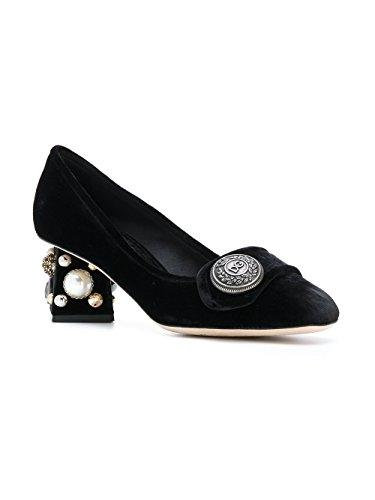 Dolce Escarpins E CD0818AM40880999 Femme Gabbana Velours Noir RcwUR84q