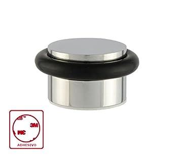 EVI Herrajes I-140-Fermaporta in acciaio inox, finitura opaca, in acciaio inox e gomma, colore: nero 040140AM