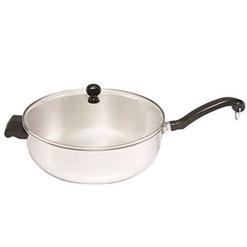 - Farberware Classic Series Stainless Steel Jumbo Covered Chef's Pan, 6-Quart