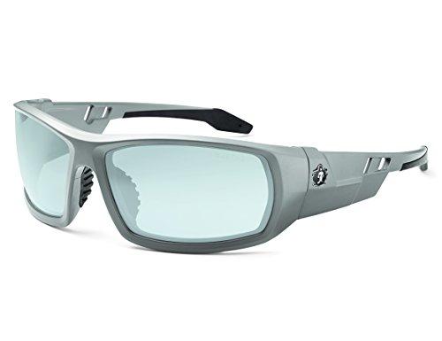 Outdoor Lens Safety Glasses (Skullerz Odin Safety Glasses - Matte Gray Frame, In/Outdoor Lens)