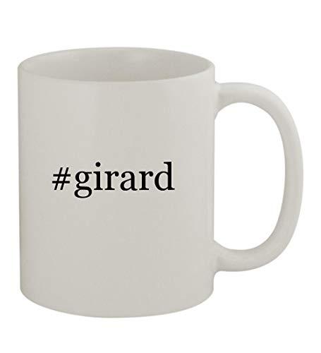 #girard - 11oz Sturdy Hashtag Ceramic Coffee Cup Mug, White
