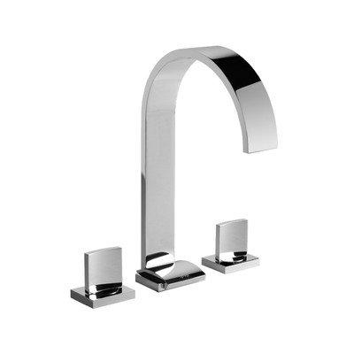 Graff Widespread Bath Faucet - Sade Double Handle Widespread Bathroom Faucet Finish: Polished Nickel