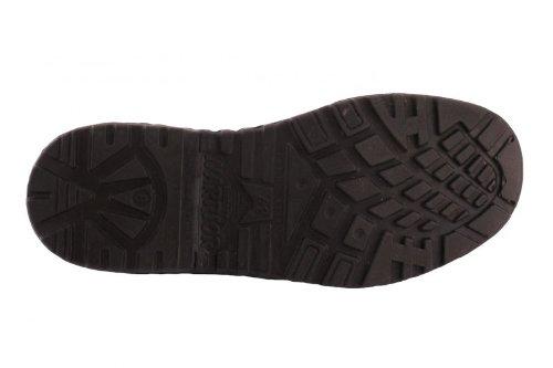 Warrior Sicherheitssandale Clogs S1 schwarz aus echtem Leder