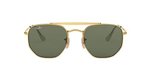 Ray-Ban 0Rb3648, Gafas de Sol Unisex Adulto, Dorado (Green Classic), 51