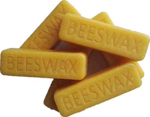 (Beesworks® (6) 1oz Yellow Beeswax Bars - Package of (6) 1oz Bars (6oz) - Cosmetic Grade. )