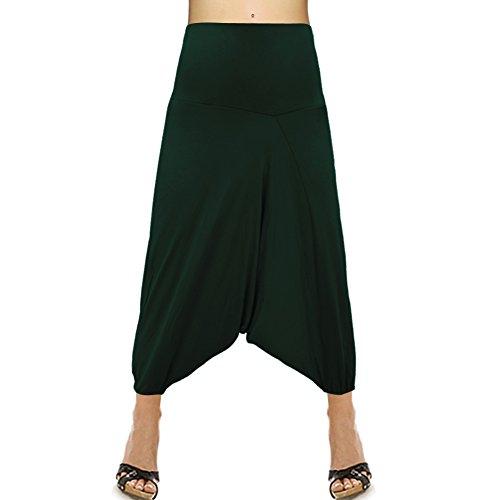 Bonneterie Mode Élastique Pantalon Harem Wiast Couleur Unique Coton aw8qwx