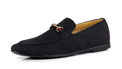cc070bf44439 Mens Moccasins Uk Black Faux Fashion Casual Italian Sizes Suede Loafers On Jas  Slip Shoes adpAnqAx ...