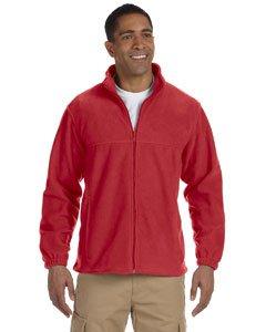 Harriton Men's 8 oz. Full-Zip Fleece 2XL RED