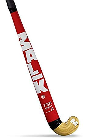 /… Malik Field Hockey Stick College Red Outdoor Wood Multi Curve Head Shape: Classic 33.5 Inches Length