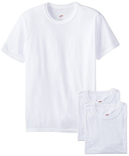 Soffe Men's 3-Pack Short Sleeve Crew Neck Military T-Shirt, White Small