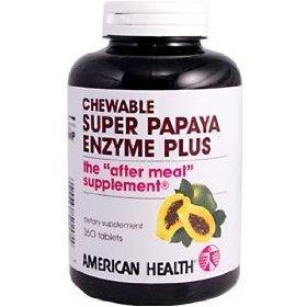 AMERICAN HEALTH Super Papaya Enzyme Plus Chewable 360 TAB