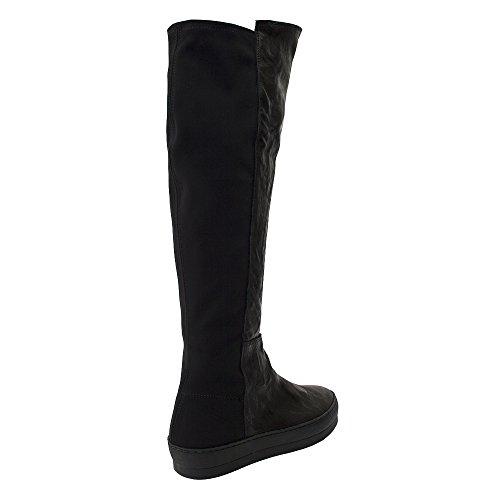 8100 Melrose Nueva Bota Elástica Negra Arrugada / Negro Elástico En La Parte Inferior De La Zapatilla