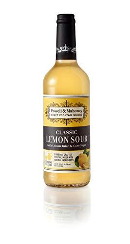 Powell & Mahoney Craft Cocktail Mixers, Lemon Sour, Non Alcoholic Cocktail Mixer, 750 ml