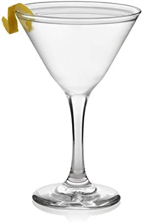 Libbey 12-Piece Set Martini Party Glasses, Set of 12, 7.5 oz, Clear