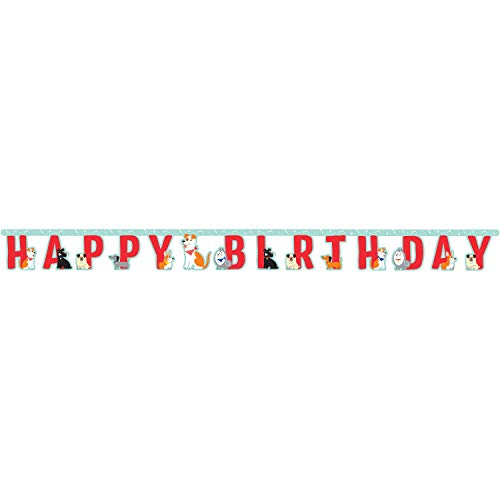 Creative Converting Dog Party Happy Birthday Banner