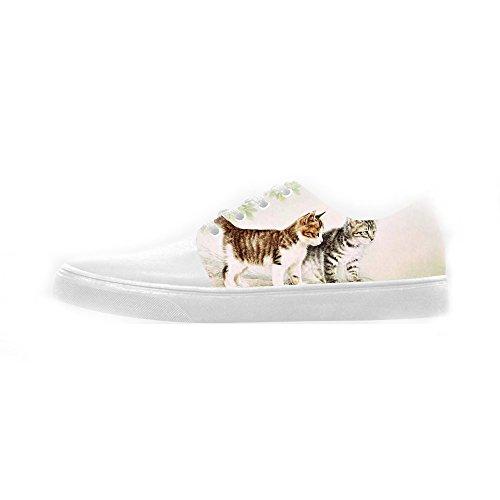 Scarpe Scarpe Canvas Pittura Custom Shoes Le Women's Di Gatti xw8xqBS0T